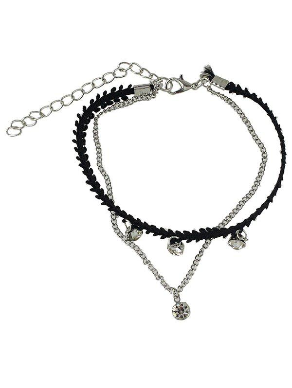 Fashion Rhinestone Layered Chain Anklet