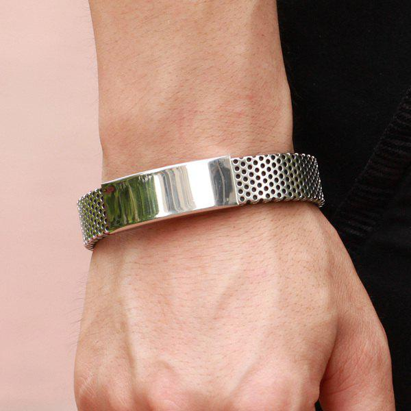Outfits Hollow Out Silver Plated Polished Bracelet