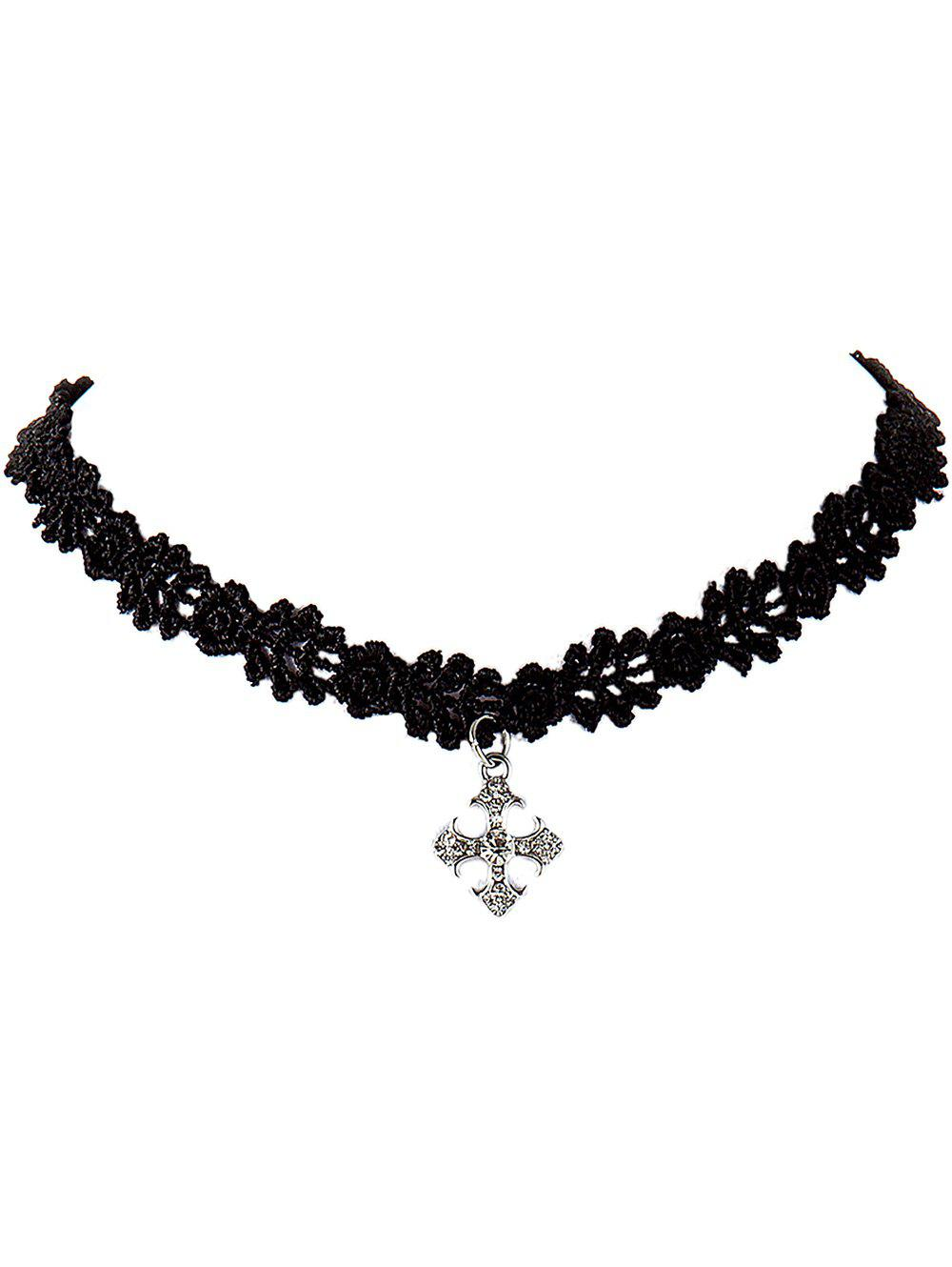 Hot Cross Lace Choker Necklace