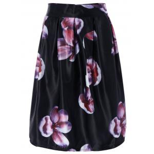 Ornate High Waist Floral Skater Skirt