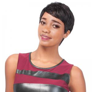 Masculine Women's Dark Brown Ultrashort Short Straight Side Bang Synthetic Wig
