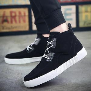 Fashionable Suede and High Top Design Casual Shoes For Men -