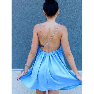 Charming Cross Back Strappy Dress For Women -