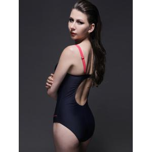 Concise Hit Color Open Back Swimwear For Women -