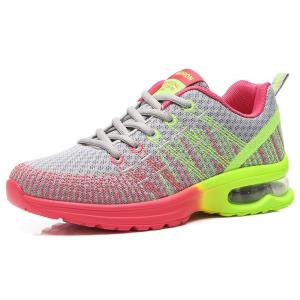 Trendy Multicolour and Air Cushion Design Athletic Shoes For Women -