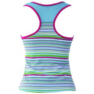 Striped Racerback Padded Tankini Top -