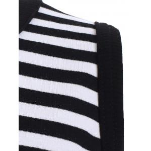 Chic Round Neck Sleeveless Striped Women's Dress -