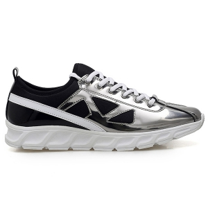 Trendy Color Block and Splice Design Athletic Shoes For Men -