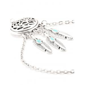 Bohemian Style Faux Turquoise Feather Anklet -