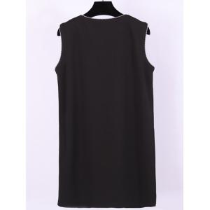 Plus Size Double Breasted Flap Pockets Waistcoat -