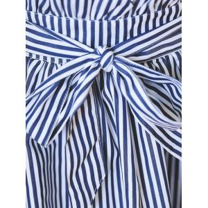 Plus Size Sweet Tie-Front Striped Skirt -
