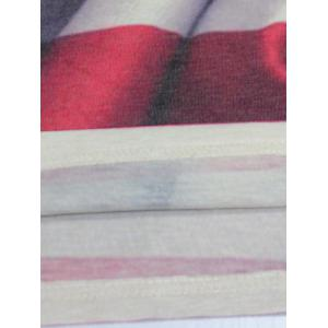 Distressed American Flag Print V Neck T-Shirt - COLORMIX 2XL