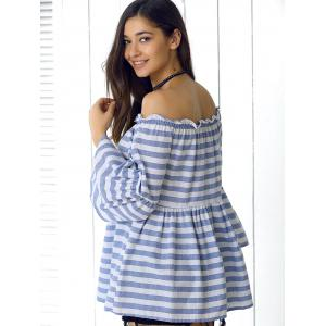 Off-The-Shoulder Striped Blouse For Women -
