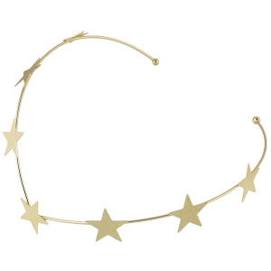 Chic Style Solid Color Gold Plated Star Charm Hairband For Women - GOLDEN