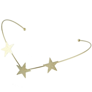Graceful Gold Plated Pure Cololr Star Charm Hairband For Women - GOLDEN