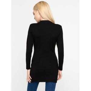 Stylish Cut Out Pure Color Slim Sweater -