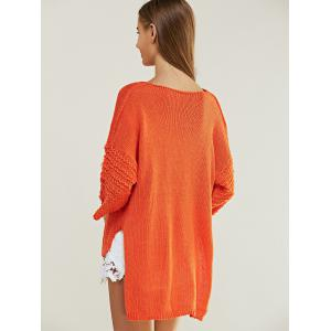 Casual Pure Color High Low Knitted Top For Women -