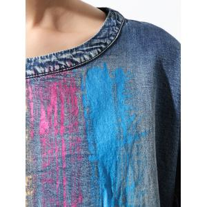 Colorful Loose Flounce Blouse -