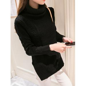 High Neck Candy Color Long Sleeve Sweater -