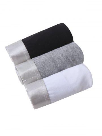 Sale Cherlamode 3PCS (Three Color) Solid Color U Convex Pouch Band Briefs For Men COLORMIX XL