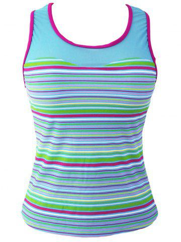 Outfit Striped Racerback Padded Tankini Top