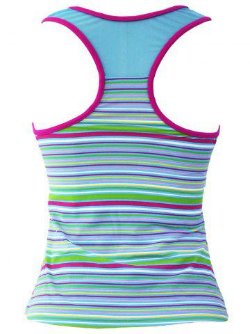 Outfit Striped Racerback Padded Tankini Top - S STRIPE Mobile