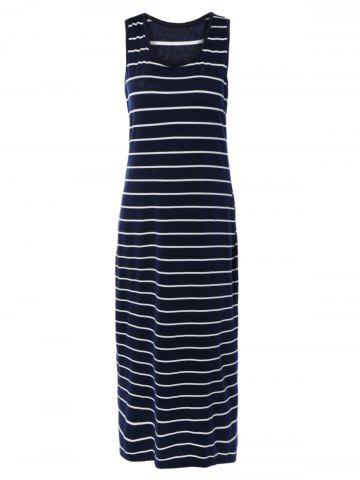 Affordable Sleeveless Striped Casual Maxi Tank Dress