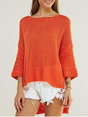 Shop Casual Pure Color High Low Knitted Top For Women