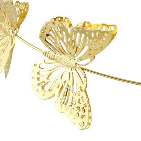 Best Charming Gold Plated Cut Out Butterfly Embellished Hairband For Women - GOLDEN  Mobile