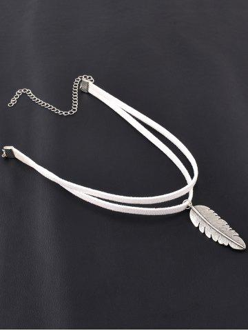 Fancy Chic Alloy Feather Choker