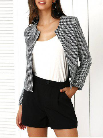Store Houndstooth Pattern Coat and Pure Color Shorts Twinset