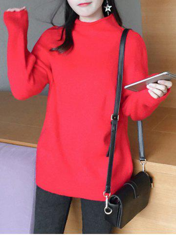 Discount Sweet High Neck Candy Color Sweater