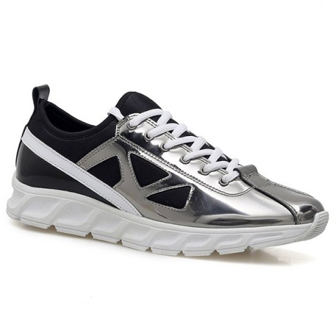 Fashion Trendy Color Block and Splice Design Athletic Shoes For Men