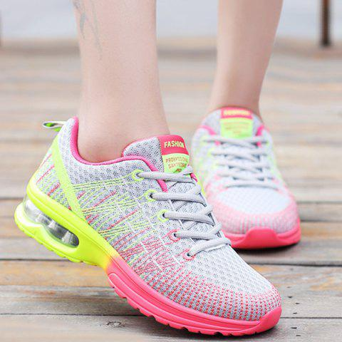Affordable Trendy Multicolour and Air Cushion Design Athletic Shoes For Women