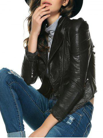 Latest Chic Pure Color Zipped Jacket For Women