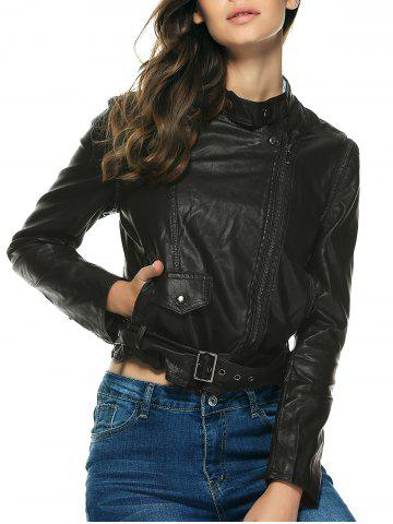 Chic Stylish Pure Color Belted Jacket For Women