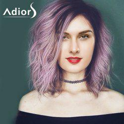 Attractive Purple Ombre Medium Synthetic Shaggy Natural Wave Capless Adiors Wig For Women -
