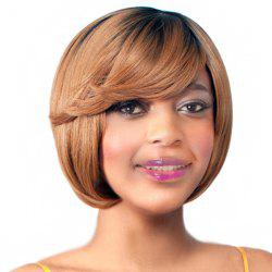 Endearing Brown Mixed Short Straight Side Bang Synthetic Wig