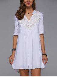 Lace Insert Mini Tunic Dress -