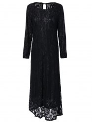 Long Sleeve Maxi Lace Party Prom Dress