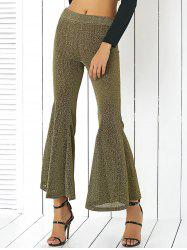 Alluring Elastic Waist Sheeny Slimming Women's Pants