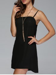 Mini Slip Dress - BLACK