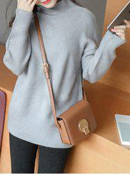 Sweet High Neck Candy Color Sweater -