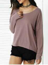 High-Low Loose Fit Long Sleeve Tee