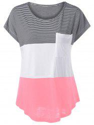 Color Block Asymmetrical T-Shirt