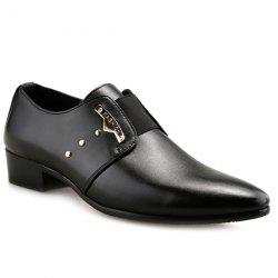 Fashionable Metal and Elastic Band Design Formal Shoes For Men -