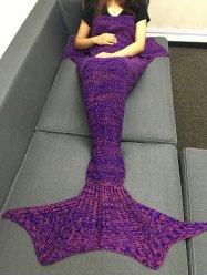 Fashion Multicolor Knitting Sleeping Bag Fish Tail Design Blanket For Adult -