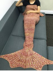 Fashion Multicolor Knitting Sleeping Bag Fish Tail Design Blanket For Adult