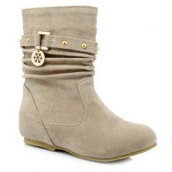 Casual Metal and Increased Internal Design Boots For Women -