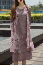 Layered Tie-Dyed Maxi Dress